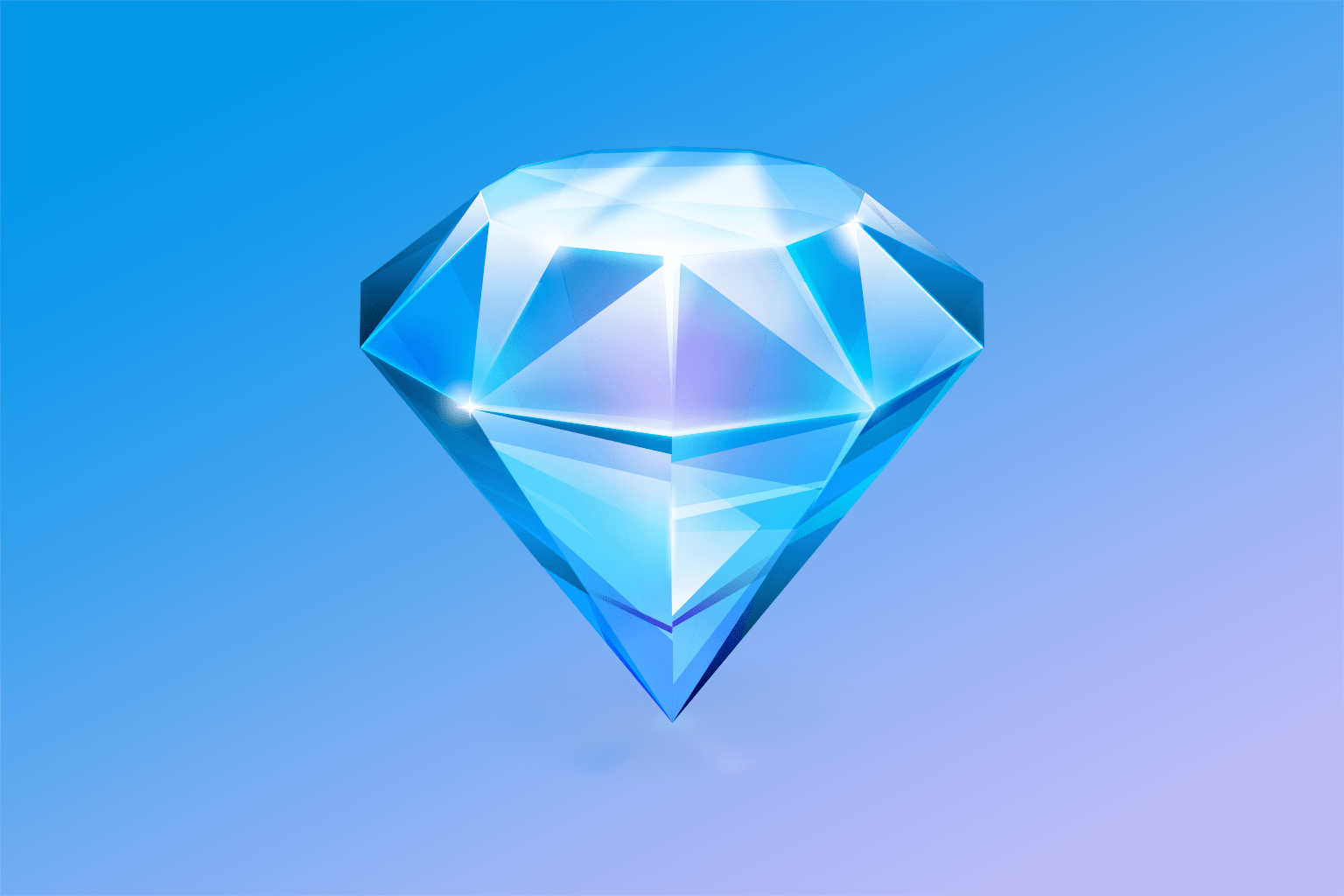 A blue version of the original Sketch 1.0 icon