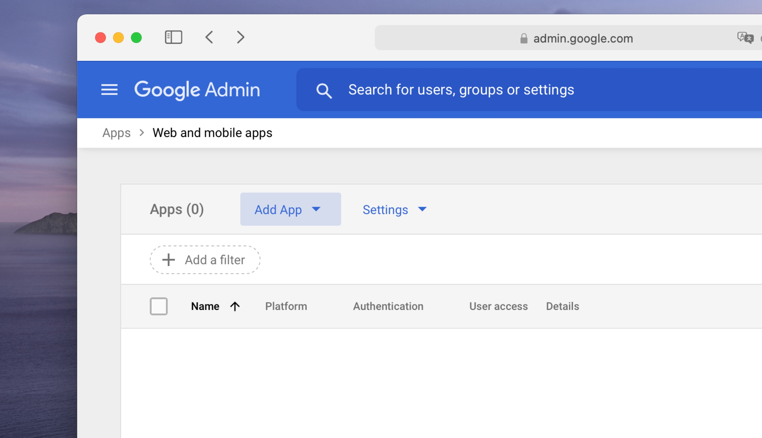 An image showing the add app menu in Google Workspaces